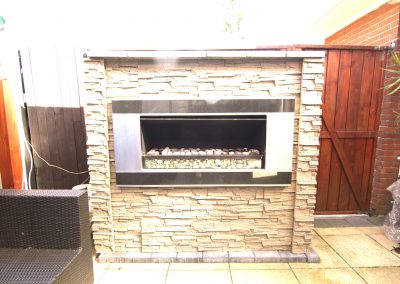 Outdoor Fire Places Faux Stone