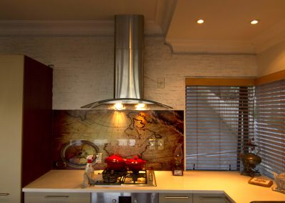 kitchen faux stone