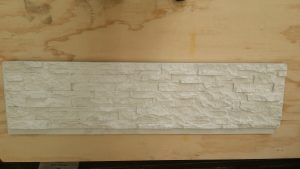 Faux Stone Panel White